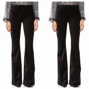 7 For Mankind Velvet Black Trousers 25